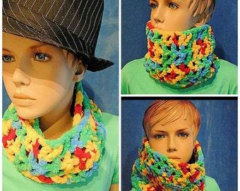 Boys Crochet Scarf, Boys Scarf, Girl's Scarf, Girl's Crochet Scarf, Kids Scarf, Girl Scarf Neckwarmer, Toddlers Scarf,Kids Cowl Neck Scarf