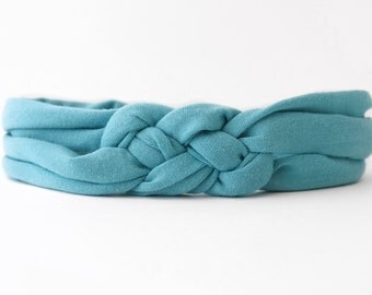 Knotted Baby Jersey Headband - Jersey Headwrap - Blue Baby Headband - Soft Baby Headband - Stretchy Baby Headband - Baby Girl Headband