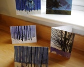 A pack of 5 greetings cards – winter trees and landscapes by Paul Bailey