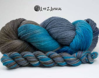 Alpaca Yarn - 100% ALPACA - Hand Dyed by me! Made in Canada from our alpaca farm Land and Sea