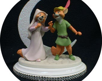 NEW from DISNEY Robin Hood & Maid Marian Wedding Cake Topper. Precious Moments Figurine Groom Top Fox