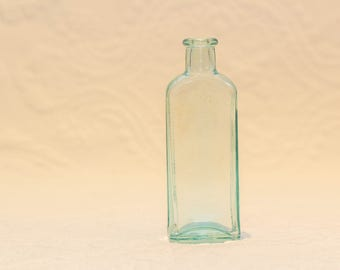 Three in One Oil blue glass bottle - Excellent condition