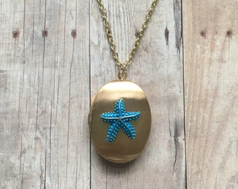 Gorgeous starfish locket