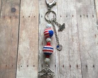 Marine mom keychain 2