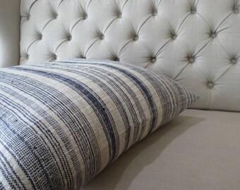 Double sided, 24x24 Vintage Hmong Hemp cushion cover, Handwoven Hemp Fabric-vintage Homespun hemp,Decorative Cushion