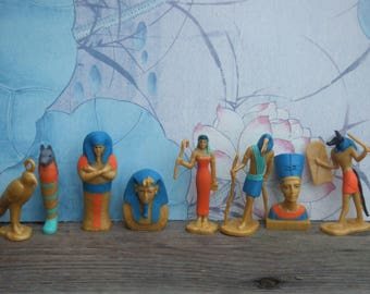 Egyptian Pharaohs and Gods. Cake Toppers. Group of 8 Figures Made by Safary Ltd.