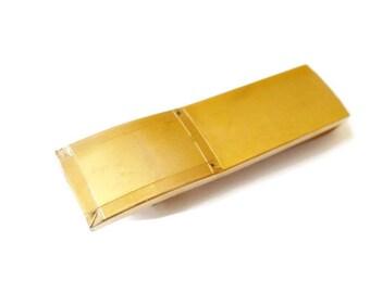 Vintage Deco Gold Tone P&K Tie Clip Bar