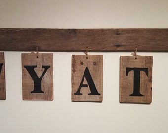 Personalized Rustic Wood Wall Hangings