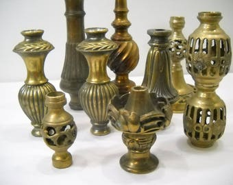 Vintage Heavy Solid Brass Lamp Footings and Bases Parts And Pieces 10 Pounds FREE SHIPPING