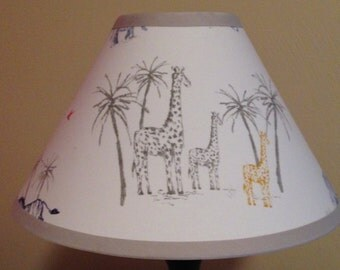 Owen Jungle Safari Fabric Children's Nursery Lamp Shade
