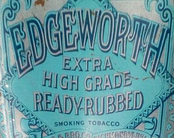 Vintage Edgeworth Tobacco Tin/Humidor.  G-388A