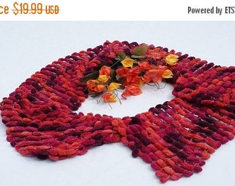 CHRISTMAS SALE Handcrafted Katia Big Snow Knitted Pompom Scarf
