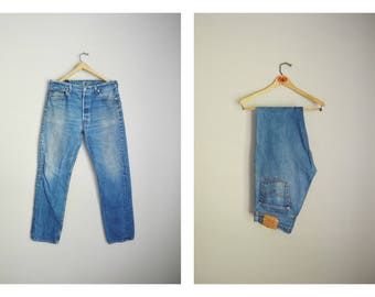 vintage 80s 501s denim jeans -- mens 36x34