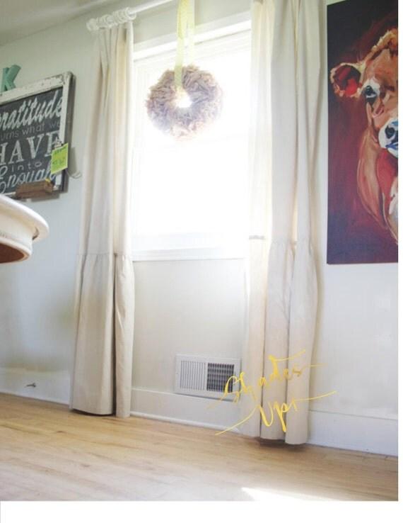 Drop Cloth Painters Cloth Panels Drapes Farmhouse Shabby Chic