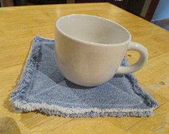 Recycled Denim Pot Holders, Coasters, Hot Pads