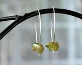 Rainforest Jasper Earrings, Bear Earrings, Rhyolite Jasper Earrings, Bear Jewelry, Threader Earrings