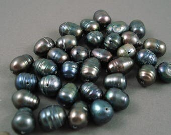 Destash Fresh Water Pearls in Shades of Blue Mixed Size Beads