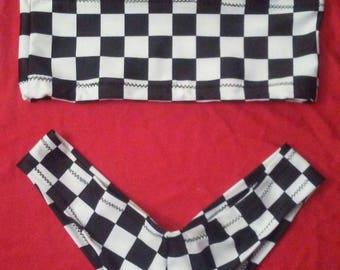 RACE raceweek NASCAR scrunched BUTT stripper exotic bikini dancer shorts set clubwear