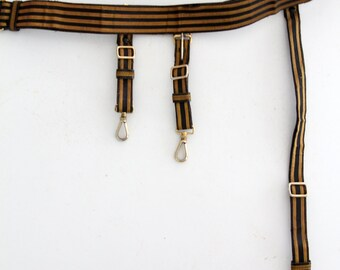 C.E. Ward Co lodge regalia belt circa 1920, American masonic sash