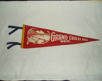 Vintage Pennant, Grand Coulee Dam, Washington