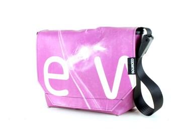Messenger Bag made from Upcycled Truck Tarp, Water resistant Laptop Bag, Courier Bag, Satchel, Shoulder Bag (Q02)