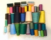 Lot of Thread - Large Spools - Cotton Polyester - Industrial - Cones