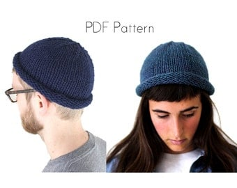 Fisherman Beanie Knitting Pattern, quick and easy knitting project