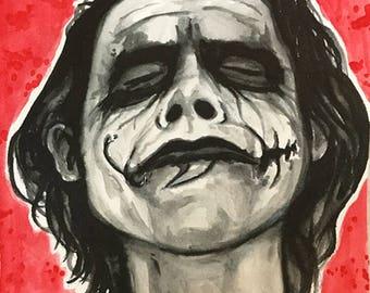 That Joker Guy Portrait 8x6 inch Original