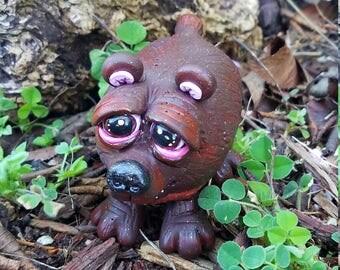 Brown Bear Polymer Clay Sculpure