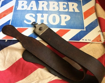 This Antique Soft Leather Sharpening Strap Has A Nice Look