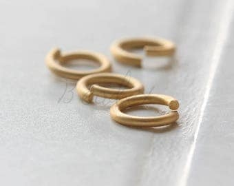 20 Pieces / Real Matte Gold Plated / Jump Rings / Brass Base / Ring / 10x1.5mm  (C429JP//C773)