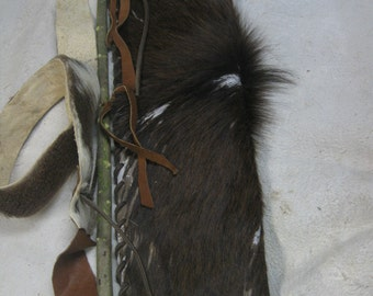 Hair on Elk skin back or hip arrow quiver