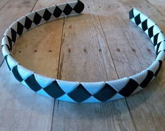 Black & White Woven Headband