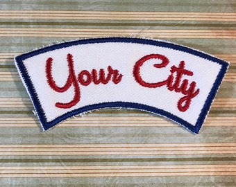 CITY NAME PATCH - Custom Retro Style