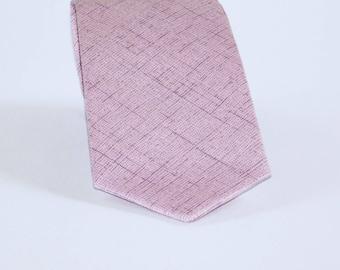 Lavendar linen look neck tie. Light purple linen ties