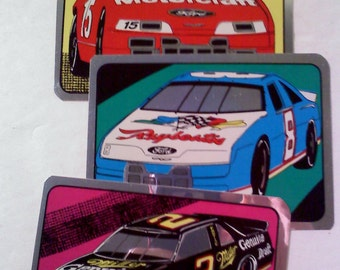 Race Car Stickers, Set of 3