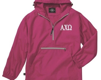 Alpha Chi Omega Unlined Anorak (Hot Pink)