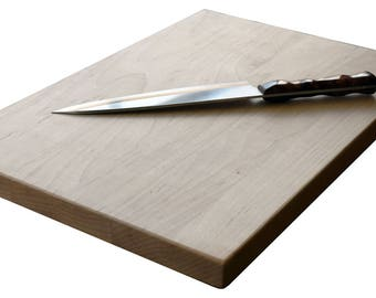 "Large Cutting Board Carving Board 18""x12""x1"" Handcrafted Maple Cherry Walnut or Sapele"