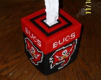 Buccaneers Plastic Canvas Tissue Box Cover