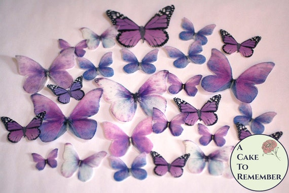 26 Purple Spring Wedding Cake Decorations For A Woodland