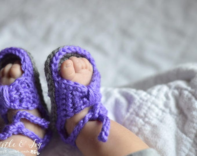 Bitty Bow Baby Sandals Crochet Pattern PDF DOWNLOAD