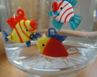 Floating Glass Fishes Three Pack