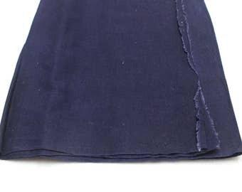 Japanese Indigo Cotton. Artisan Aizome Textile. Blue Vintage Folk Fabric (Ref: 1757B)