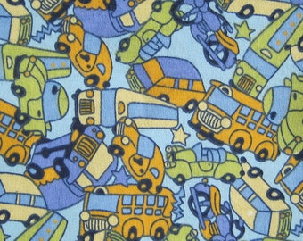 Cars and Trucks  Flannel Fabric
