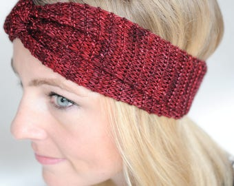Yoga Turban: Yoga Gift,Red Headband,Wide Yoga Headband,Yoga Clothes Sale,Hipster,Baby Clothes,Knit,Headwrap,Boho,Headband,Yoga,Topknot