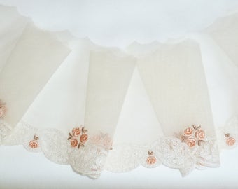 Vintage Swiss Embroidered Netting