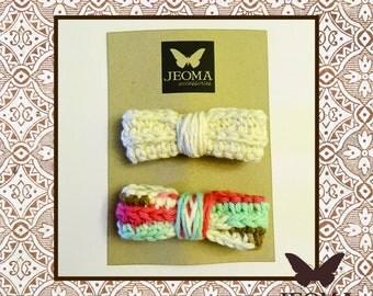 Crochet Head bow-beige