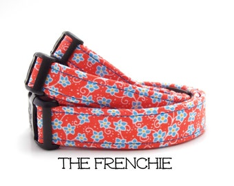 Floral Dog Collar, The Frenchie, Red Dog Collar, Girly Dog Collar, Cute Dog Collar, Dog Gift, Flower Dog Collar, Puppy Gift, Matching Leash