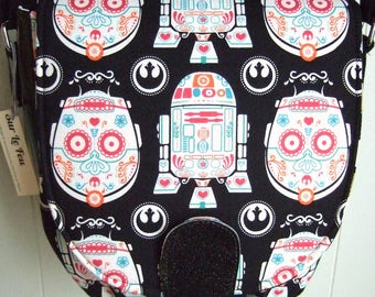 Droids of the Dead Saddle Bag Purse / Cross-body Purse / Geek Chic / Swoon Sandra
