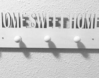 Home sweet home hanger (60 cm) with 5 ceramic knobs